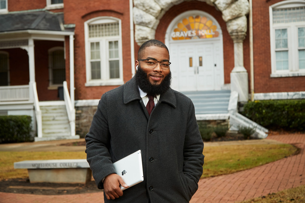 Jared Bailey, a senior at Morehouse College