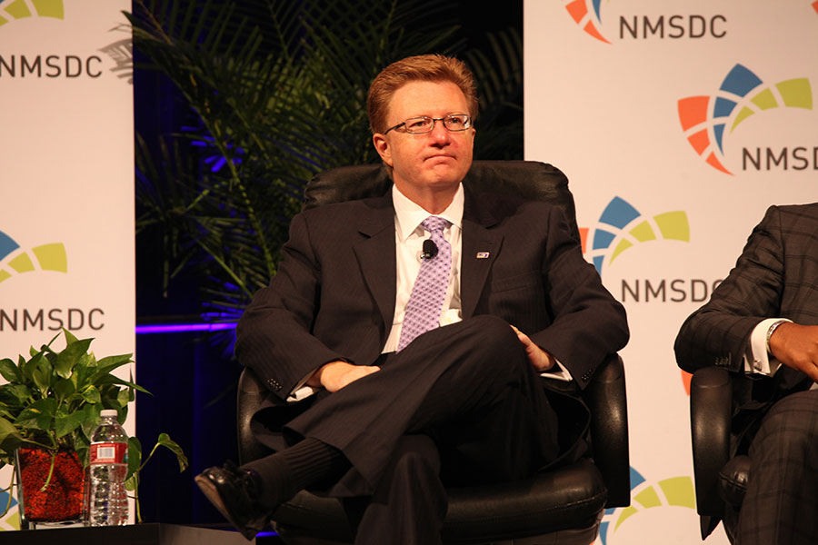 Panelist James Moise (Fifth Third Bancorp) at the Wednesday NMSDC Plenary Session