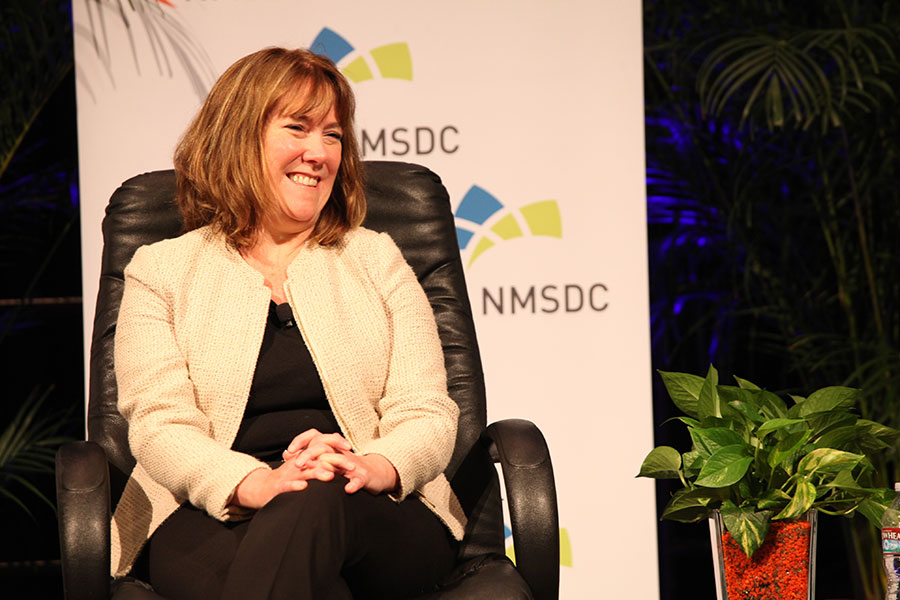 Panelist Sheila S. Tierney (Ingersoll Rand) at the Wednesday NMSDC Plenary Session