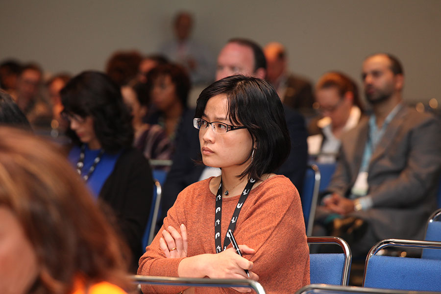 "Conference attendee at the ""Innovation: Transforming the Landscape"" Workshop"