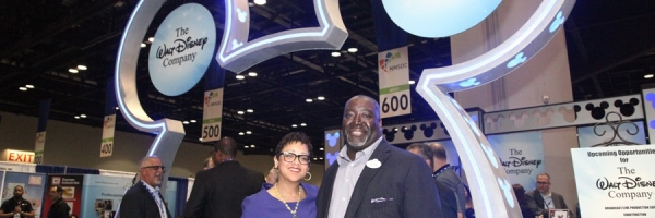 The Walt Disney Company was the corporate co-chair of the conference. Eugene Campbell, pictured with NMSDC President, Joset Wright-Lacy, played an integral role in logistics and planning for the four-day event.