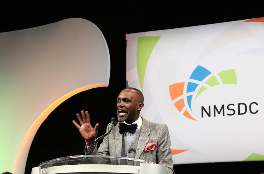 Keynote Speaker Derreck Kayongo at the Monday Power Breakfast