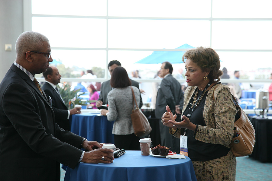 2015 NMSDC Conference Attendees at the Networking Continental Breakfast