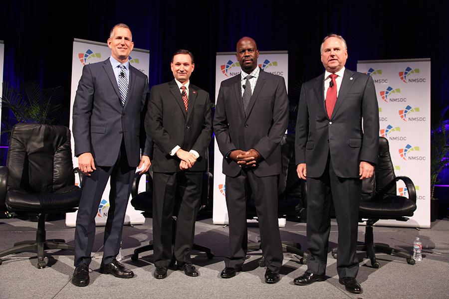Jim Gorzalski, Steven Binkowski, Clint Grimes, and Michael Bartschat at the Tuesday Plenary Session