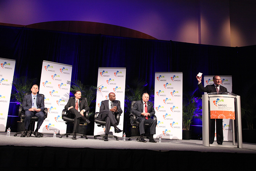 Jim Gorzalski, Steven Binkowski, Clint Grimes, Michael Bartschat and Thomas Derry at the Tuesday Plenary Session